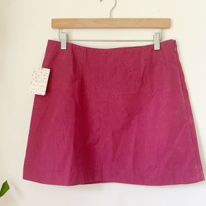 NWT Free People Pink Suede Mini Skirt